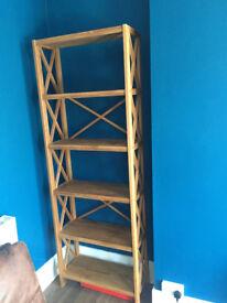 Oak, open back shelves