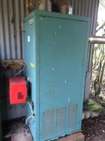 Powrmatic warm air heater oil fired