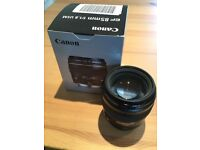 Canon EF 85mm f/1.8 USM Lens - Black - Excellent Condition