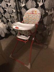 Winnie the Pooh red high chair