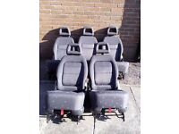 Vw Sharan 2001 - 2009 Five Rear Seats with two child seats