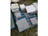 Joblot of small paving slabs stepping stones