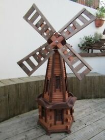 brand new wooden windmill for garden