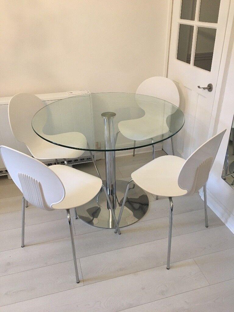 John Lewis 4 Seater Gl Dining Table White Italian Galvano