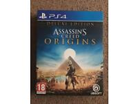 Assassins creed origins deluxe edition ps4 game