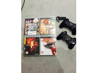 PS3 slim 160gb with accessories and games