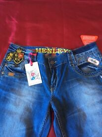 Brand new ladies Henley Jeans size 3