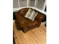 Tan/Brown Leather Chair