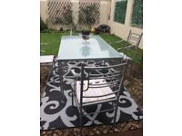 'Quality Garden Patio Furniture Table + 4 Chairs JOHN LEWIS HAND FORGED V HEAVY