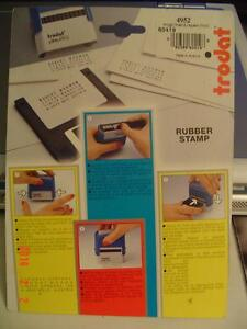 TRODAT MODEL PRINTY 4952 DO-IT-YOURSELF RUBBER STAMP 4 LINE SET Windsor Region Ontario image 3