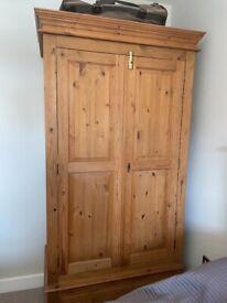 Freestanding wooden wardrobe