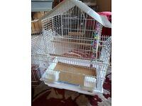 White bird cage.