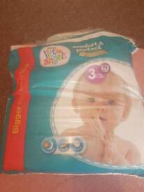 Little angels size 3 nappies