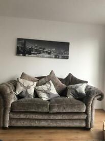 Loch Leven large 2 seater and large arm chair with foot stool