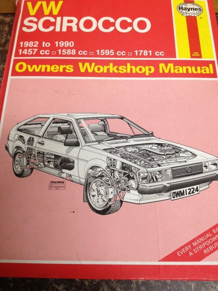 Vw Scirocco Mk2 Haynes Manual *** £10