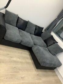 Brand New Jumbo Cord Corner Sofa RRP £449