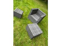 Grey Rattan outdoor set