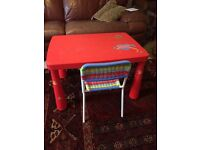 Table and chair for small child