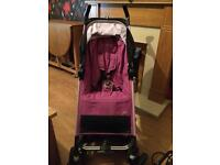 Maxi Cosi pink stroller with rain cover