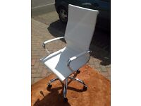 Office Chair, White - New