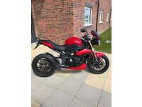 TRIUMPH SPEED TRIPLE 1050 2011 PLATE ONLY 11000 MILES AMAZING CONDITION
