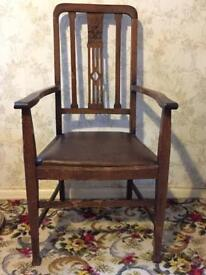 Pair of hardwood carver chairs