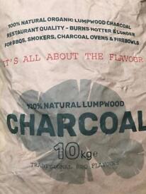 10kg bags of Restaurant grade Lumpwood charcoal
