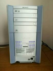 Sony vaio tower pc and screen