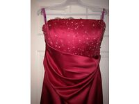 Stunning red bridesmaid/Prom/graduation dress