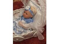 Ashton drake reborn doll and mosses basket