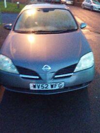Spares or repairs 2002 Nissan Primera.