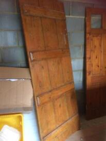 Old pine doors