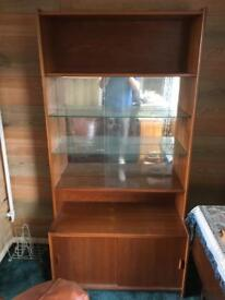 Glass / wood display cabinet.