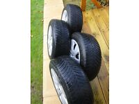 BMW 3 Series Winter Tyres on steel wheels - set of 4