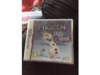Frozen , Olaf's Quest DS GAME, Still in packaging, Never opened