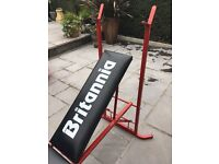 BRITANNIA WEIGHTS BENCH AND REMOVABLE LEG CURL