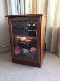 Wooden display unit and cd holder.
