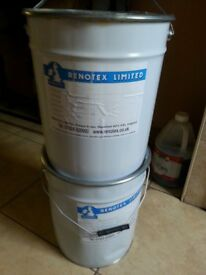 Masonry paint Cream this will paint a whole house by Renotex