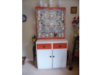 Solid wood vintage shabby chic dresser, plate rack, kitchen storage, cupboard