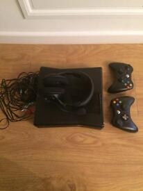 Xbox 360 and headset