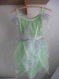 Disney Tinker Bell fairy dress in green from Disney Store for 7/8 years 128 cms