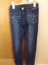 Girls Next Sparkle Jeans Age 8