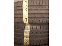 245/45/19 Continental tyres LIKE NEW