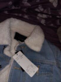 Mens brand new denim jacket