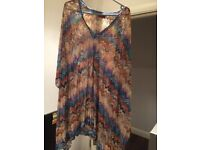 Missoni Zig Zag Kaftan / Swimsuit Cover Up - Size 14 UK
