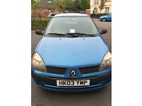Renault Clio in good condition with just over four months MOT remaining.
