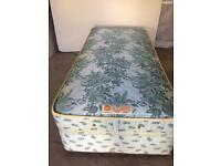 CAN DELIVER- SLUMBERLAND SINGLE DIVAN BED & MATTRESS IN VERY GOOD CONDITION