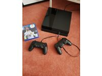 PS4 with 2 controllers and FIFA 18 -£210