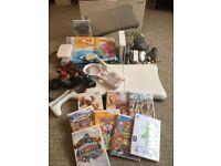 MASSIVE BUNDLE - Wii Console + 9 Games + Dance Mat + Skylanders + More