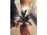 Wedding Feather Corsage and ButtonHoles